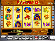 Ramses gold slot machine
